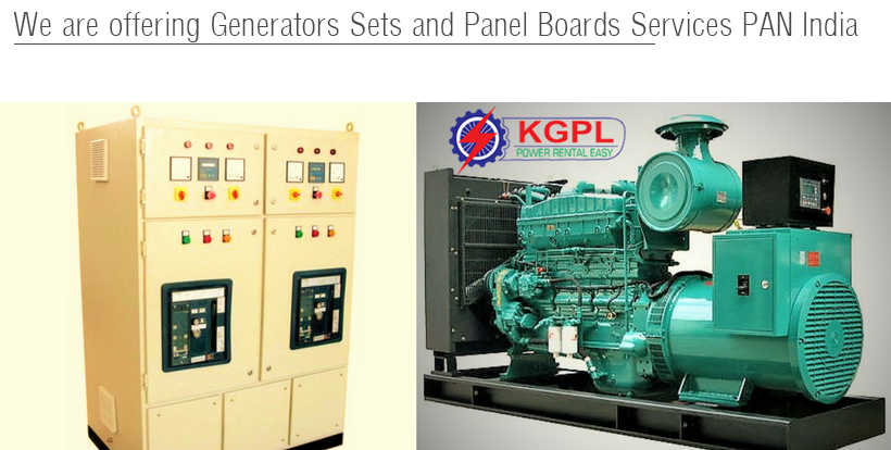 Generators Sets and Panel Boards