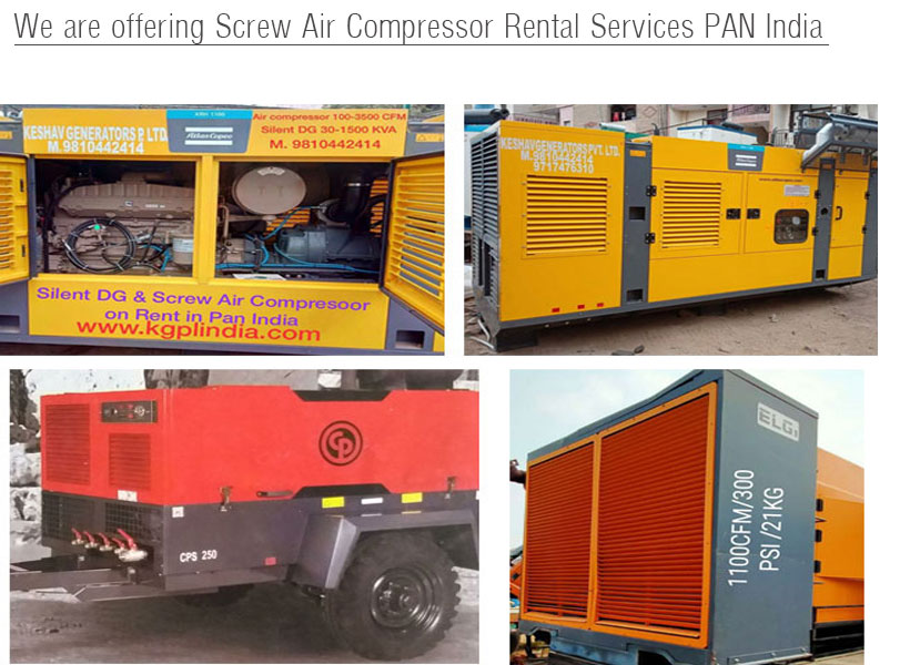 Screw Air Compressor Rental Services
